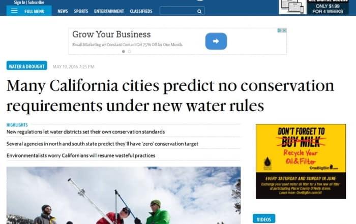 Restricciones y ahorro de agua: predicciones y realidad