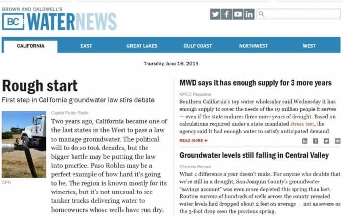 La ley de aguas subterráneas genera un gran debate