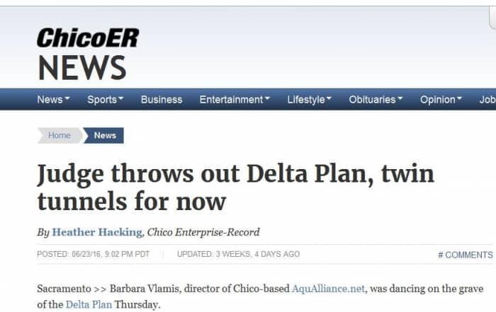 Los tribunales anulan el Plan Delta, con los túneles incluidos