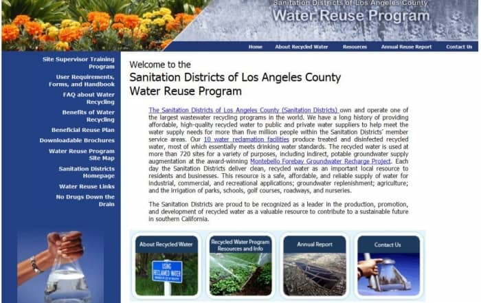XXVI Annual Status Report on Recycled Water Use