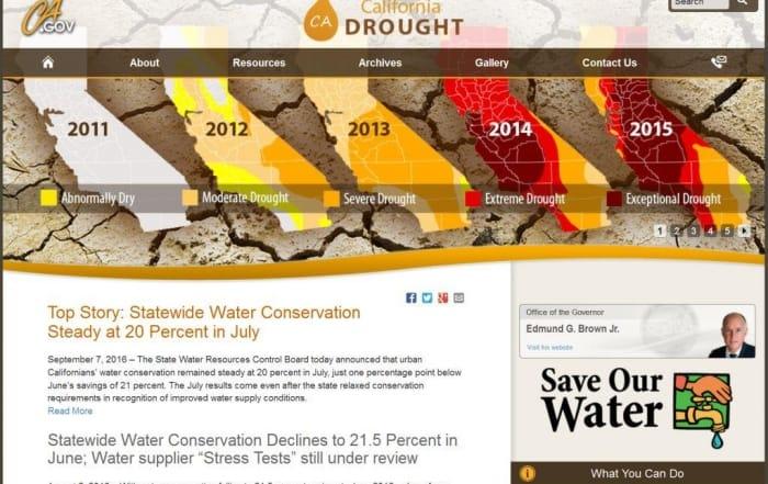 La sequía de California en 2016: sigue el tiempo caluroso y seco