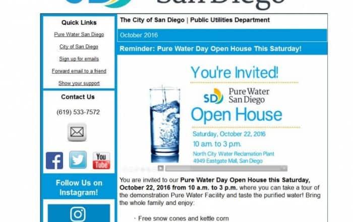 Puertas abiertas del proyecto Pure Water San Diego