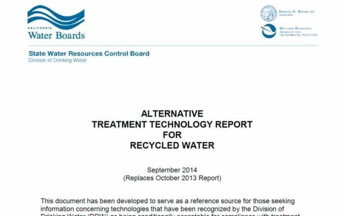 Tecnologías disponibles para la regeneración del agua