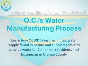 """OCWD recibe una medalla de oro por su presentación """"Water Manufacturing Process"""""""