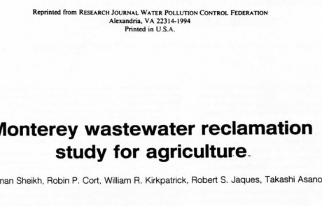 Monterey Wastewater Reclamation Study for Agriculture WPDF article