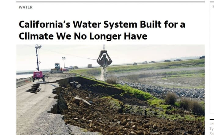 Un sistema hidráulico para atender un clima del pasado