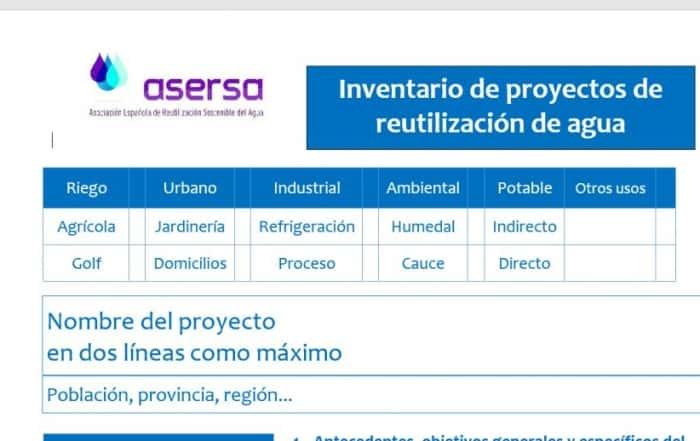 Inventario de la reutilización en España