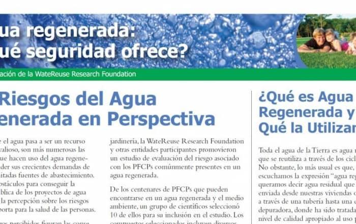 La seguridad del agua regenerada