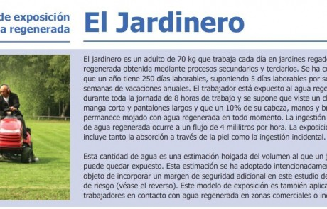 El Jardinero cuidando un jardín regado con agua regenerada