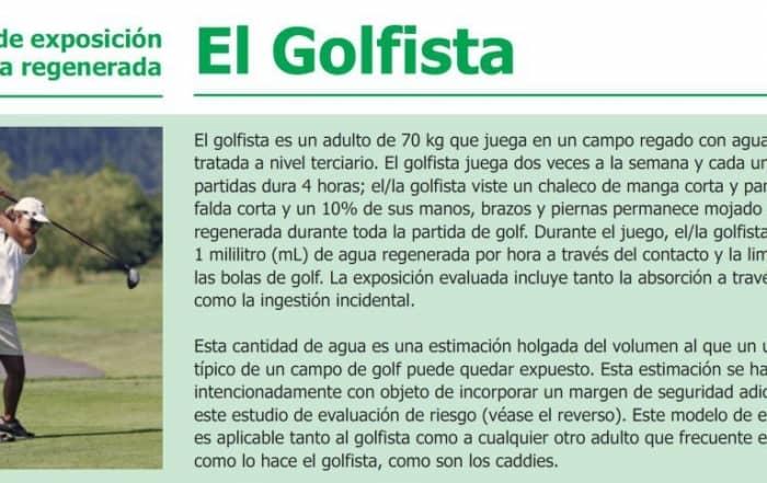El Golfista jugando en un campo regado con agua regenerada