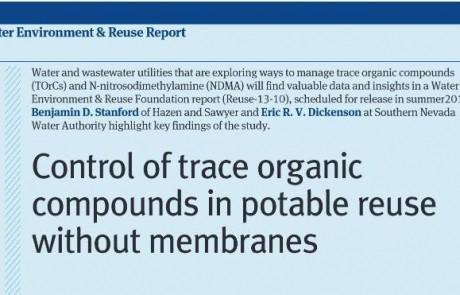 Reutilización potable sin el uso de membranas