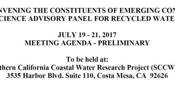 Convocatoria del Panel Científico sobre contaminantes emergentes
