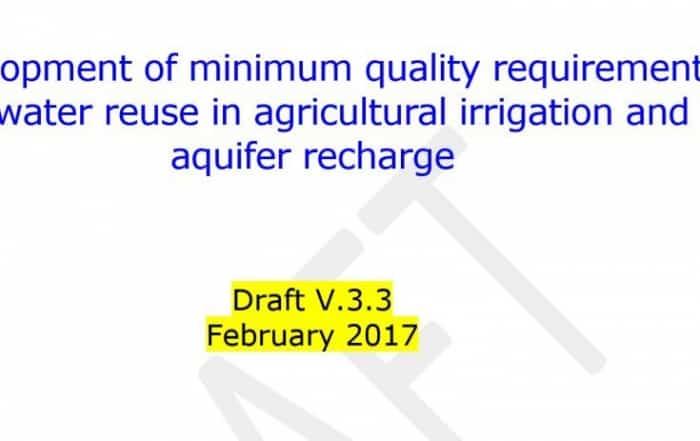 Requisitos mínimos de calidad para la reutilización del agua en la UE