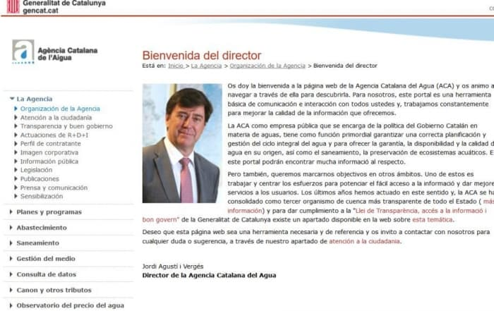 Agencia Catalana del Agua: nuevo socio protector de ASERSA