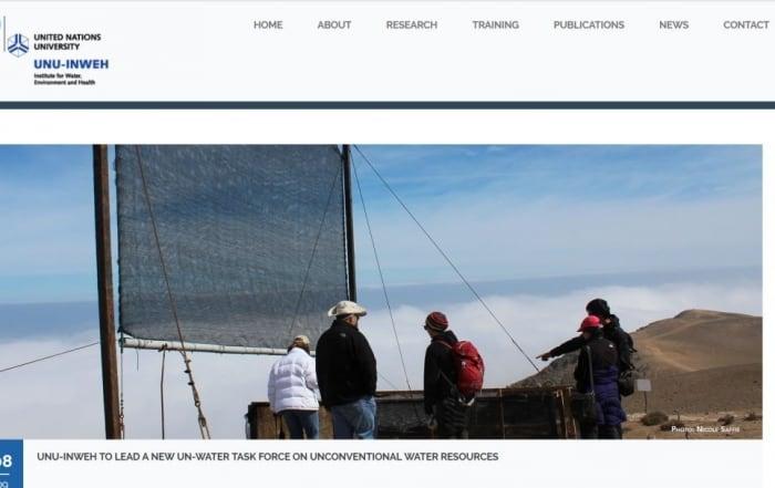 Grupo de trabajo internacional sobre recursos hídricos no convencionales