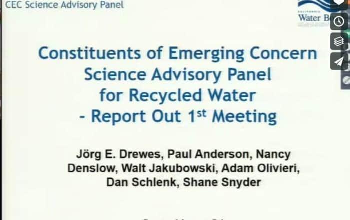 Panel Asesor sobre contaminantes emergentes en California