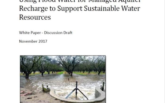 Recarga de acuíferos con aguas de inundaciones