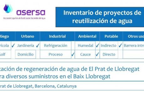 Proyecto de reutilización de agua de El Prat de Llobregat
