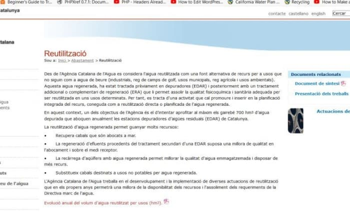 Acuerdo ACA-AMB para la regeneración de agua en el Baix Llobregat
