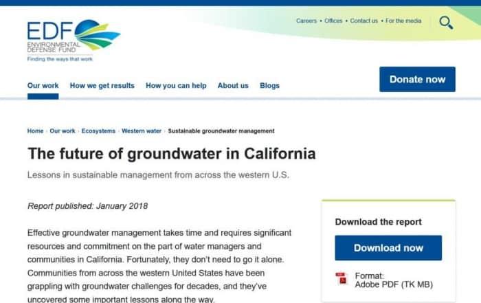 El futuro del agua subterránea en California