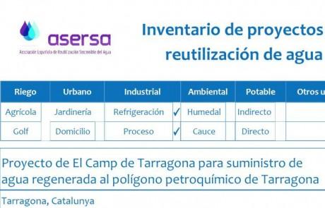 Proyecto de reutilización de agua de El Camp de Tarragona