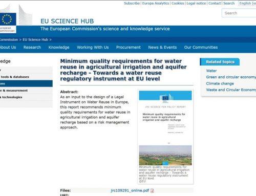 Requisitos de la UE para riego agrícola con agua regenerada