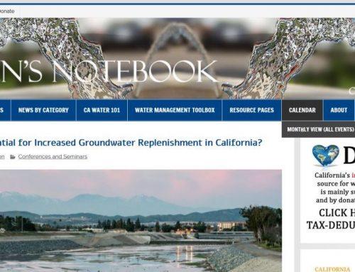 Potencial de la recarga de acuíferos en California