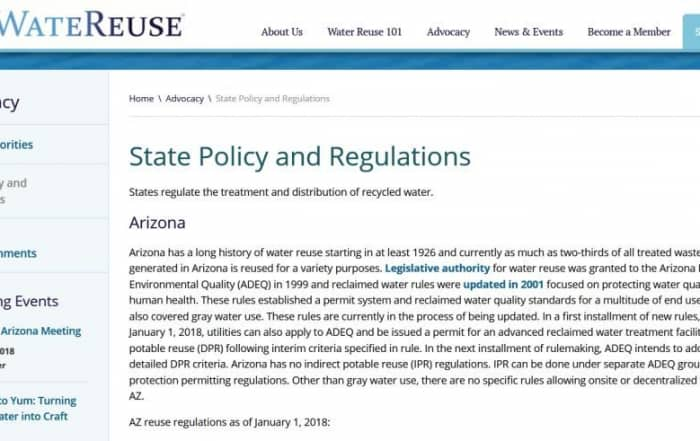 Políticas y reglamentaciones estatales sobre reutilización