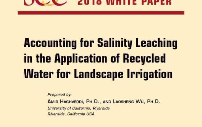 Libro Blanco sobre salinidad y riego con agua regenerada