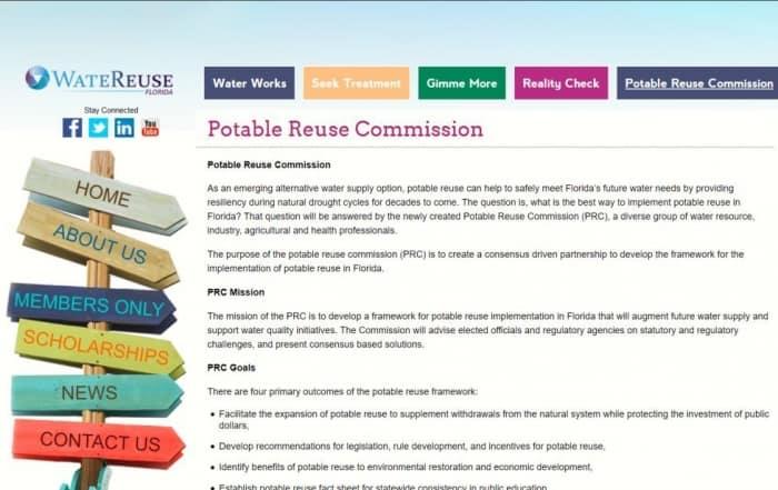 La Comisión de reutilización potable de Florida