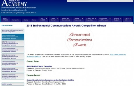 Agua embotellada: Gran Premio de Comunicación Ambiental