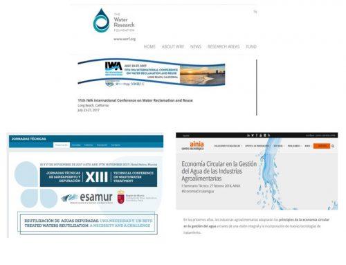 Presentaciones IWAREUSE 2017, ESAMUR 2017 y AINIA 2018
