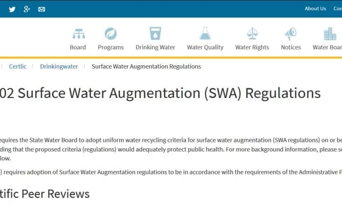 Normativa sobre recarga de aguas superficiales