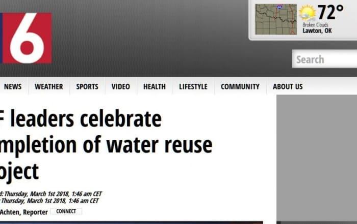 Wichita Falls celebra su proyecto de reutilización de agua
