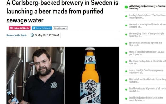 La cerveza artesanal con agua regenerada llega a Europa