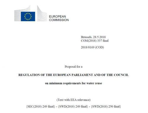 Propuesta de normativa europea para la reutilización del agua