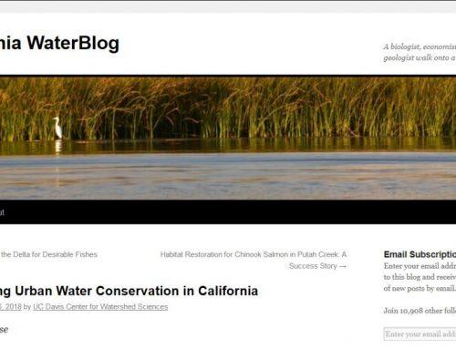 Mejora del ahorro de agua urbana en California