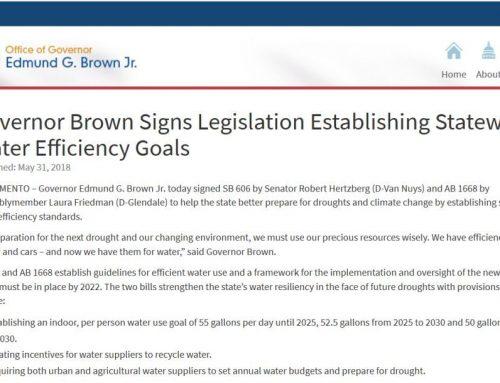 Legislación estatal sobre uso eficiente del agua
