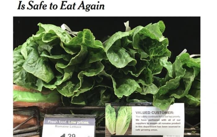Bienvenida a la ensalada Caesar: la lechuga vuelve a ser segura