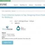 Webinar sobre reutilización potable directa en julio