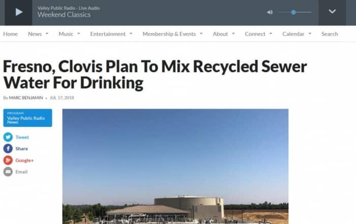 Fresno y Clovis apuestan por la reutilización potable indirecta