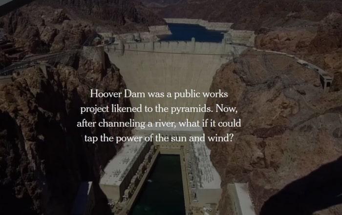La Hoover Dam como parte de un sistema de embalses reversibles