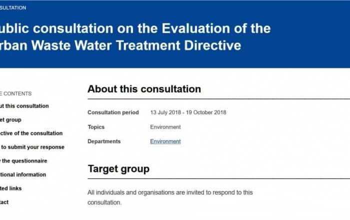 Consulta pública de la UE sobre la Directiva 91/271/CEE