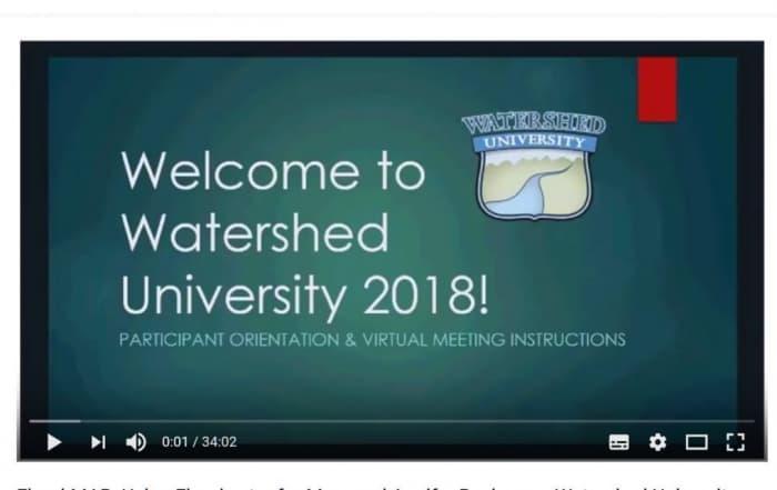 Presentación en video sobre la recarga de acuíferos con aguas de inundación