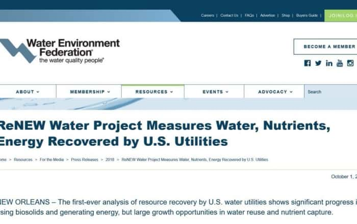 Inventario de recuperación de recursos de las aguas residuales