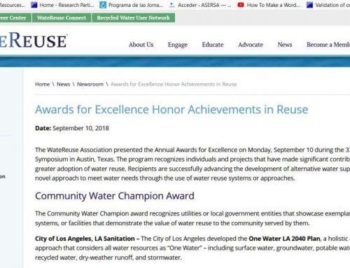 Excelencia en la reutilización del agua