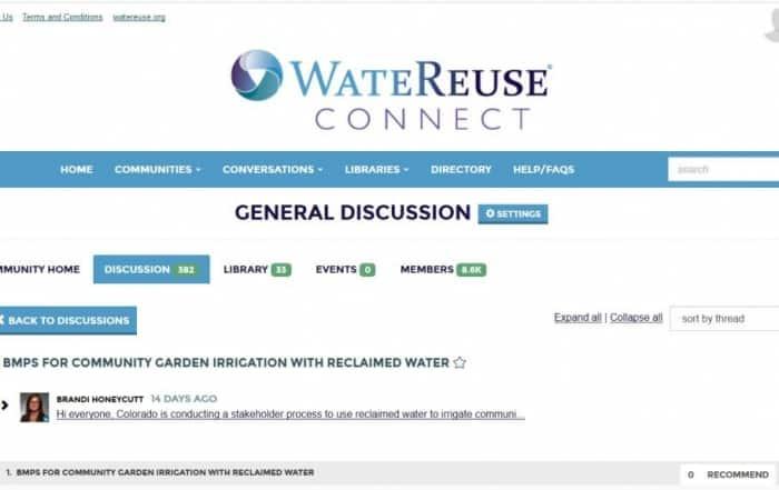 Buenas prácticas de gestión del riego de jardinería con agua regenerada