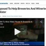 Proposición de ley para reciclar agua en bodegas y cerveceras