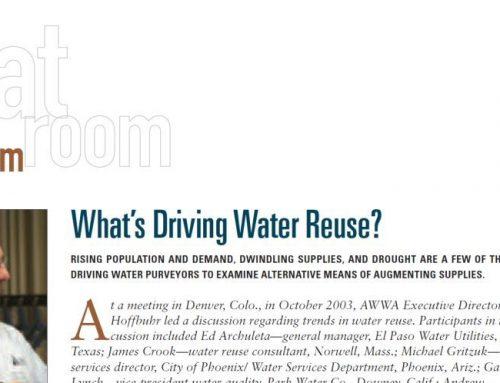 Motivaciones de la reutilización del agua, en 2003