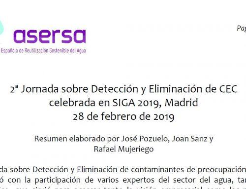 2ª Jornada sobre Detección y Eliminación de CEC en SIGA 2019